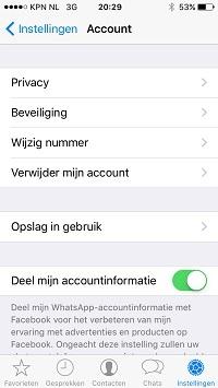 whatsapp instellen